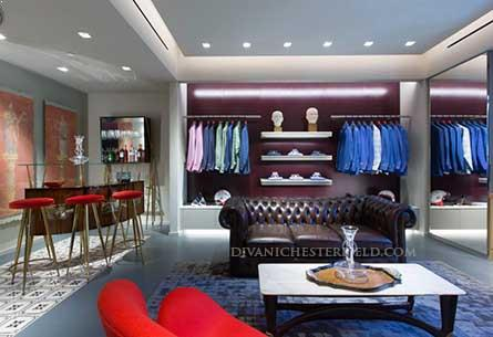 Arredo Chesterfield nuova Boutique 'ISAIA' - 9527 Brighton Way, Beverly Hills - Estate 2015