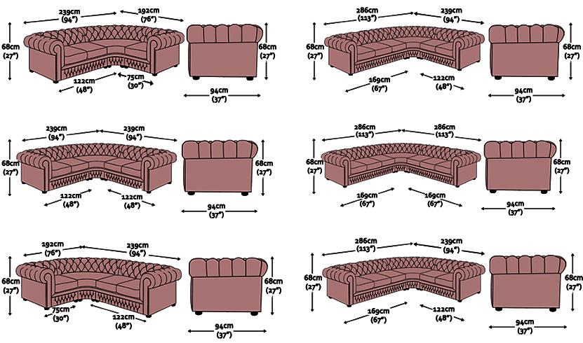 Divano chesterfield angolare divano chester ad angolo su misura - Misure divano ad angolo ...
