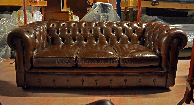 Divani chesterfield usati in pelle vintage originali inglesi for Pelle divani usati