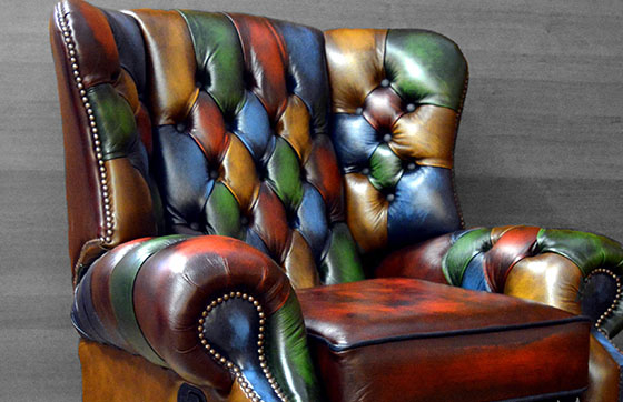 poltrona chesterfield vintage patchwork queen anne